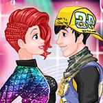 Batalla de baile de parejas de princesas
