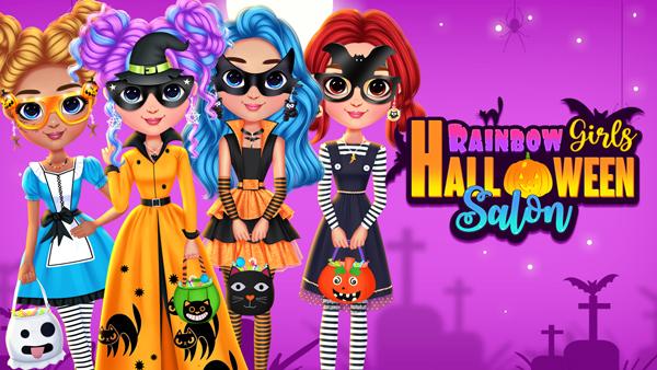 Rainbow Girls Halloween Salon