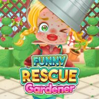 Jardineiro de resgate engraçado