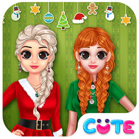 Princesa lista para Navidad