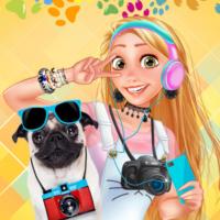 Concurso de fotos de princesas e animais de estimação