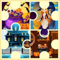 Puzzles d'Halloween de la maison de la sorcière